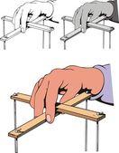 Puppeteer hand — Stock Vector