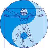 Leonardo da Vinci man — Stock Vector