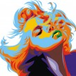 Постер, плакат: Blonde girl look like Marilyn Monroe