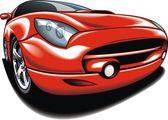Min ursprungliga bildesign i rött — Stockvektor