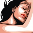 Nice face of woman — Imagen vectorial