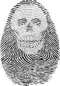 Skull thumbprint — Stock Vector
