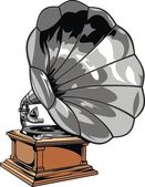 Old gramophone — Stock Vector