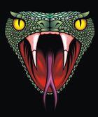 Cabeza de serpiente — Vector de stock