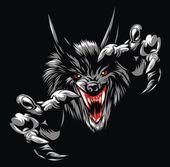 Wolf devil — Stock Vector