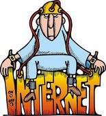 Internet illustration — Stock Vector