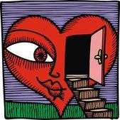 Door and love — Stock Vector