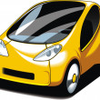 Yellow small car design — Stock Vector