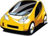 Yellow small car design — Stock Vector