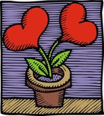 Serce jak kwiat — Wektor stockowy