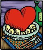 сердце как еда — Cтоковый вектор