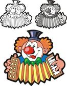 Nice clown — Stock Vector