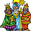 Three kings — Stock Vector #34512691