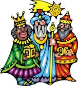Three kings — Stock Vector