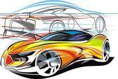 My original sport cars design — Stock Vector