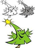 Happy xmas tree — Stock Vector