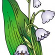 Lilly of valley — Imagen vectorial