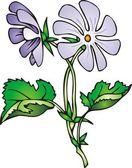 Violet flower — Stock Vector