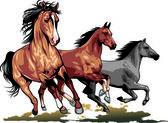дикие лошади — Cтоковый вектор