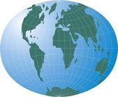 World map — Stockvektor