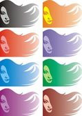 Face of nice girl background — Stock Vector