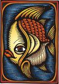 Gold fish — Stock Vector