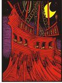 Barco pirata — Vector de stock