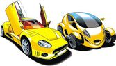 Cars of future (my original automobile design) — Stock Vector
