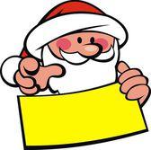 Santa claus and wish list — Stock Vector