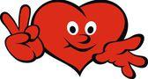 Cuore felice (amore sorrisi serie) — Vettoriale Stock