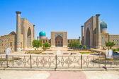 古代穆斯林建筑复杂 registan — 图库照片