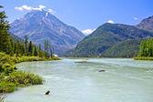 Calm River in Mountainside — Stock Photo