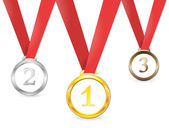 Medal, competition — Stock Vector