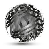Abstract hollow sphere, dna, molecule — Stock Vector