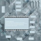 Chip, chip de silício, microcircuito, microchip — Vetor de Stock