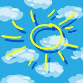 Sun — Stok Vektör