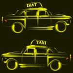 タクシー — ストックベクタ #36809779