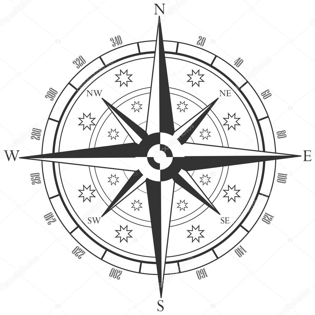 Compass Rose Coloring Page - Eskayalitim