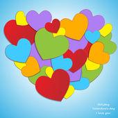 愛、バレンタインの日の休日 — ストックベクタ