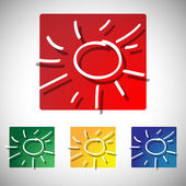 Illustrazione del simbolo sole — Vettoriale Stock