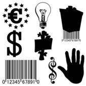 Set para el negocio — Vector de stock