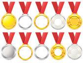 Medal set — Stock Vector