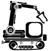 Construction machinery — Stock Vector