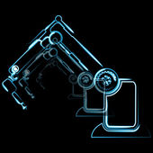 Vector robotic symbol — Stock Vector