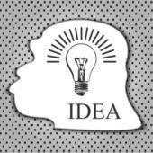 Idea sing — Stock Vector