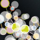 分子的结构 — 图库矢量图片