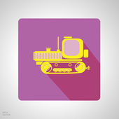 App icon set of construction machinery. Design elements for mobile and web applications. — Vettoriale Stock