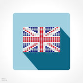 Flag of United Kingdom app icon — Stock Vector