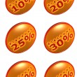 Discount percentage icons — Stock Photo #18731653