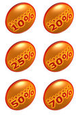 Discount percentage icons — Stock Photo